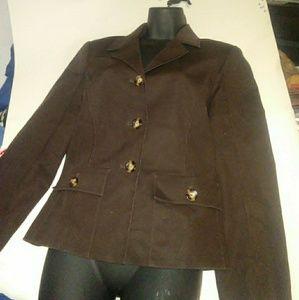 Oscar de la Rent A Size 8 Brown Jacket